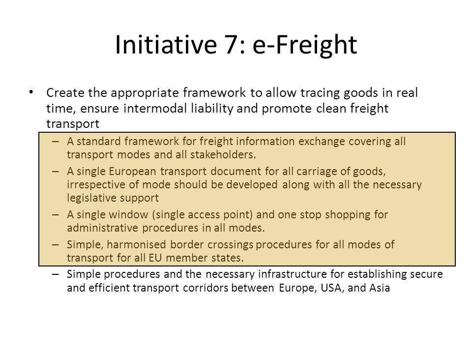 EU-prosjekt Freightwise 2006 • Lag et rammeverk for informasjonsutveksling innen transport og logistikk med fokus på interoperabilitet.