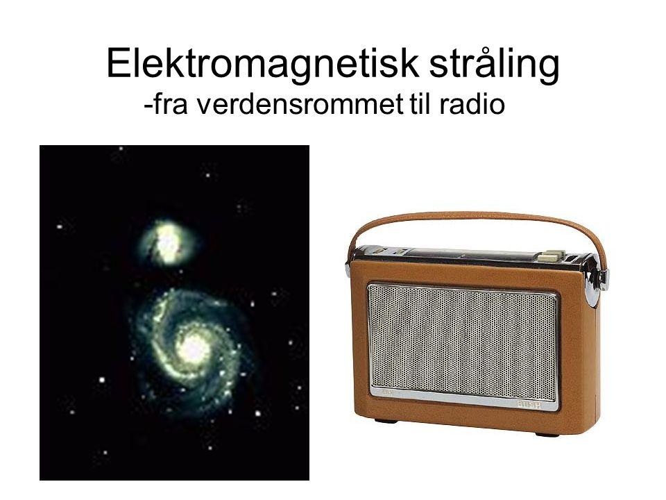 Setter vi alt dette sammen, får vi Det elektromagnetiske spekteret Høy frekvens → Lav frekvens Kort bølgelengde → Lang bølgelengde Mye energi → Lite energi