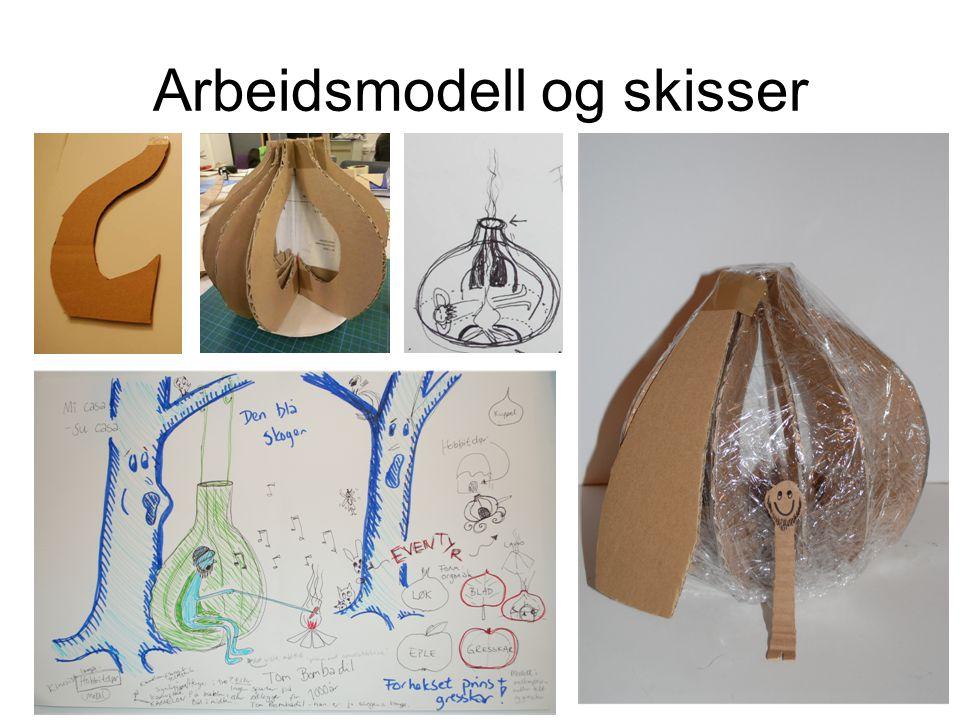 Arbeidsmodell og skisser