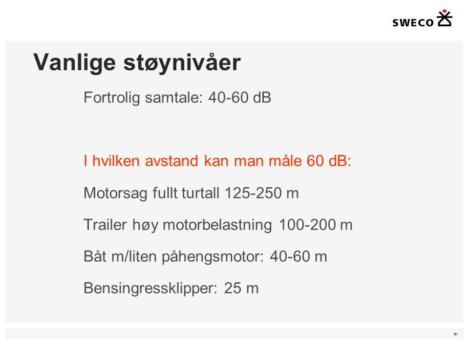 ► Støysonekart Lmaks 16 Lmaks =60 Lmaks = 70