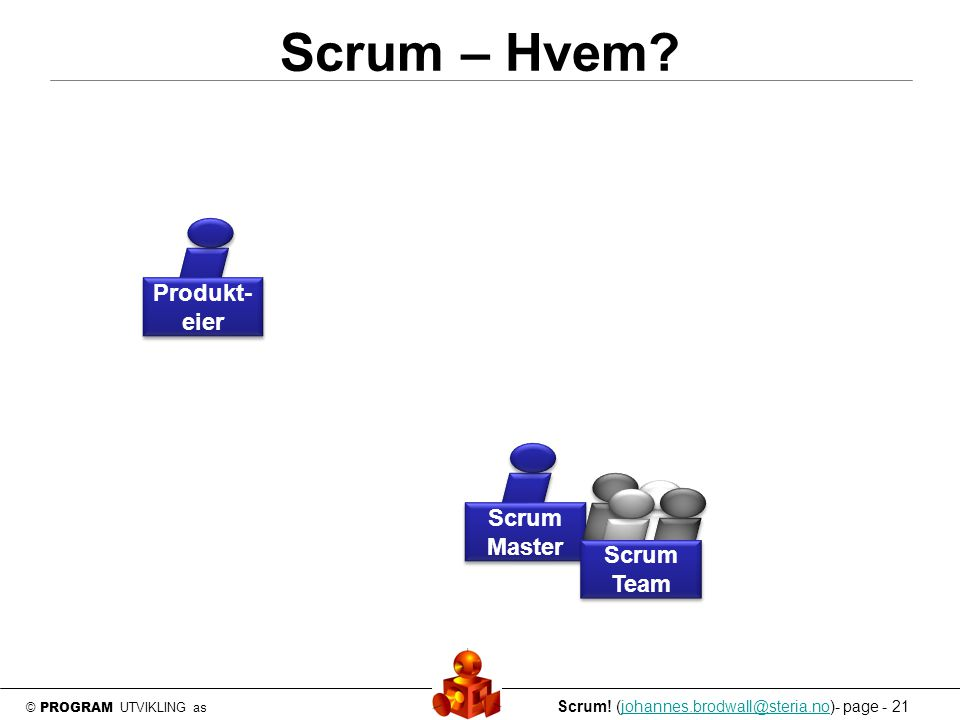 © PROGRAM UTVIKLING as Scrum.