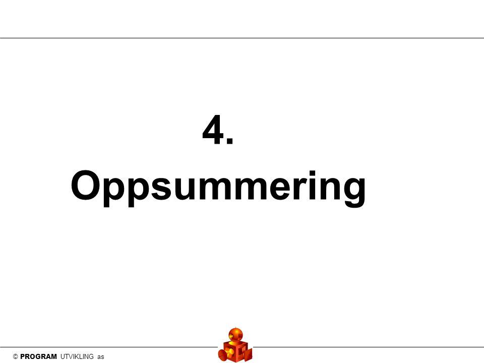 © PROGRAM UTVIKLING as 4. Oppsummering