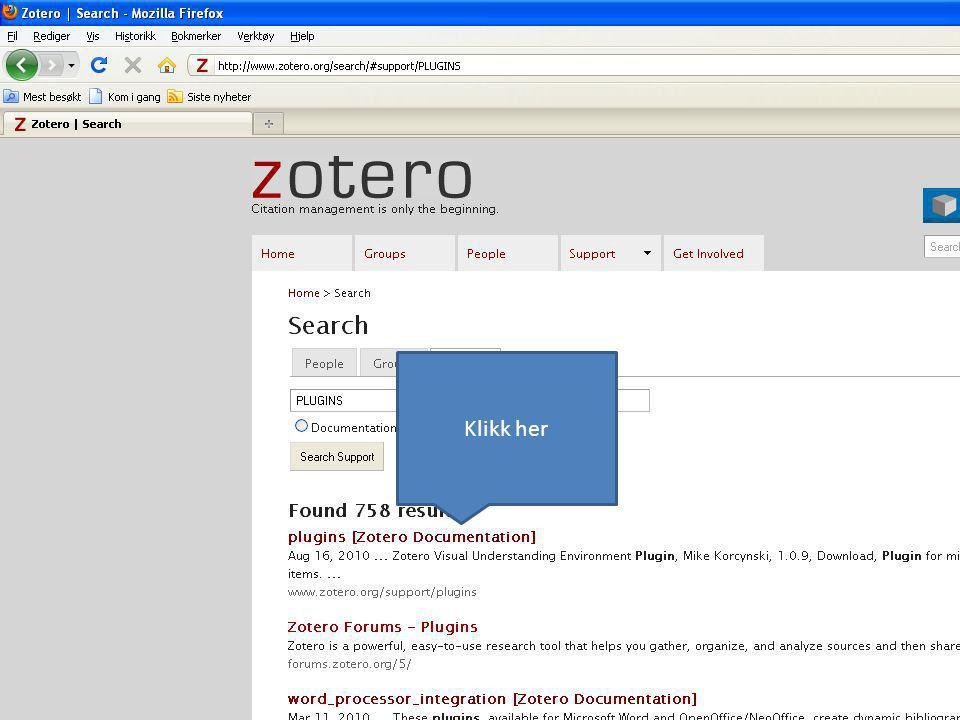 Bla deg ned til Mikrosoft word integration og klikk på Documentation
