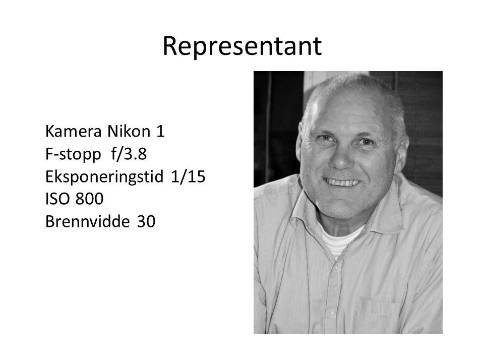 Representant Kamera Nikon 1 F-stopp f/3.8 Eksponeringstid 1/15 ISO 800 Brennvidde 30