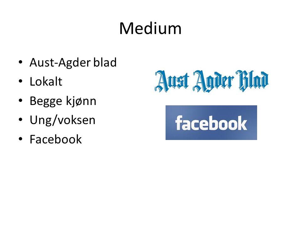 Medium • Aust-Agder blad • Lokalt • Begge kjønn • Ung/voksen • Facebook