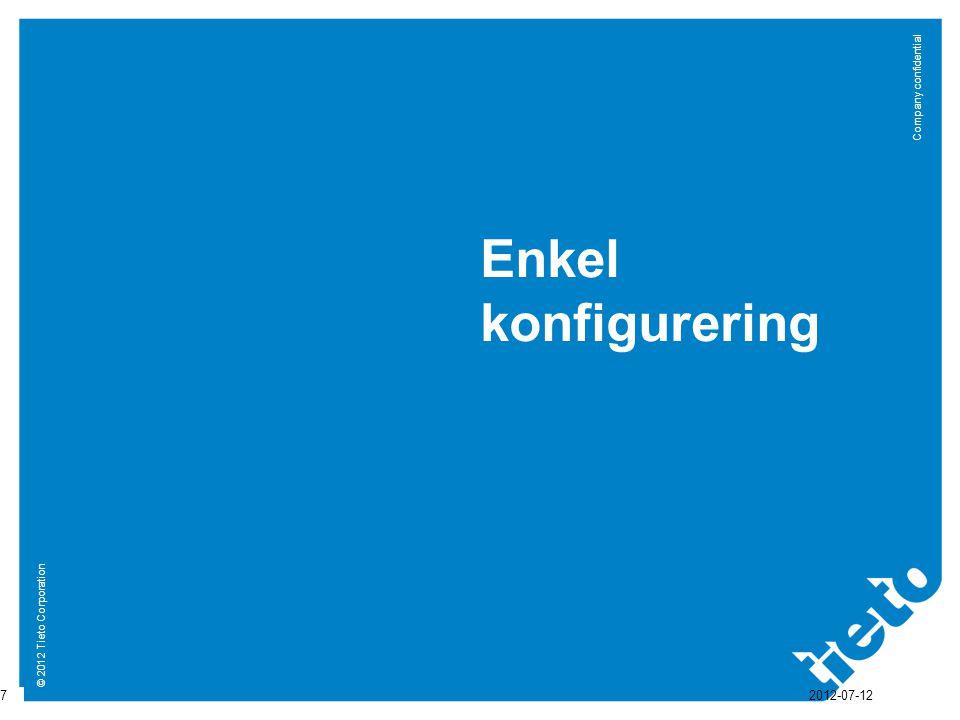 © 2012 Tieto Corporation Company confidential Støttede meldinger i Avtale (CPA) 18 2012-07-12