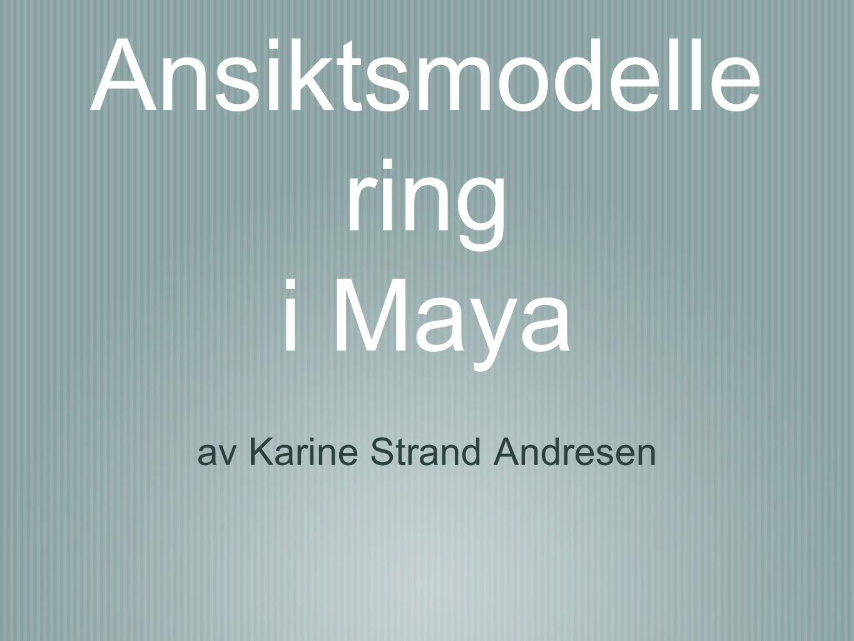 Ansiktsmodelle ring i Maya av Karine Strand Andresen
