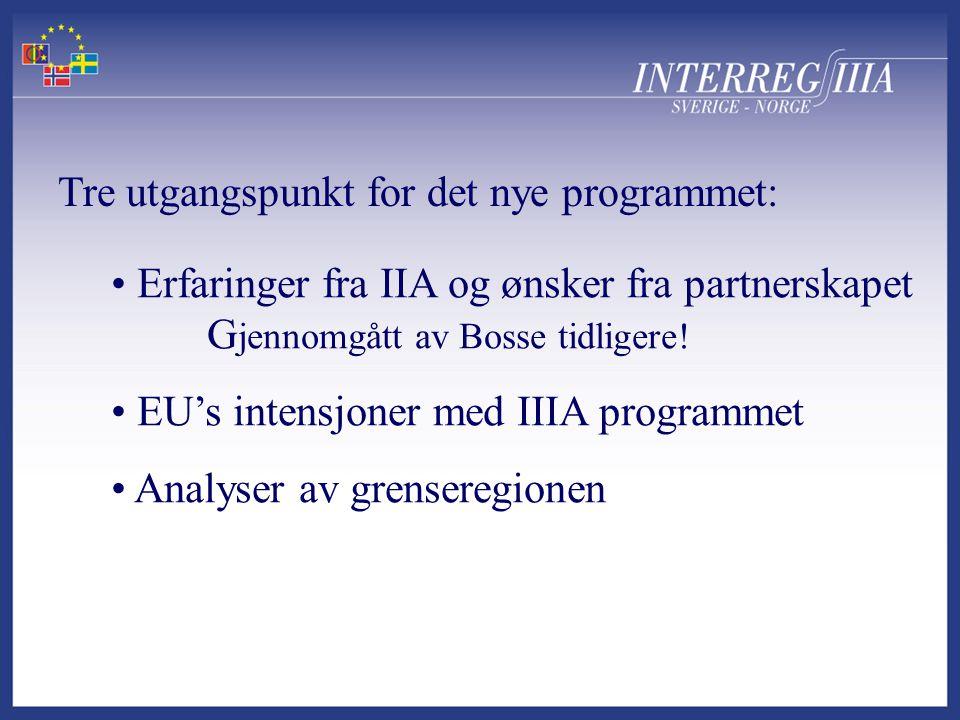 • Erfaringer fra IIA og ønsker fra partnerskapet G jennomgått av Bosse tidligere.
