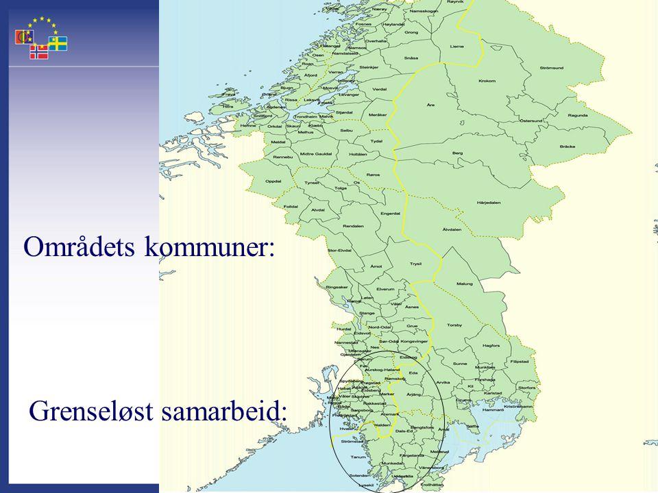 Grenseløst samarbeid: Områdets kommuner: