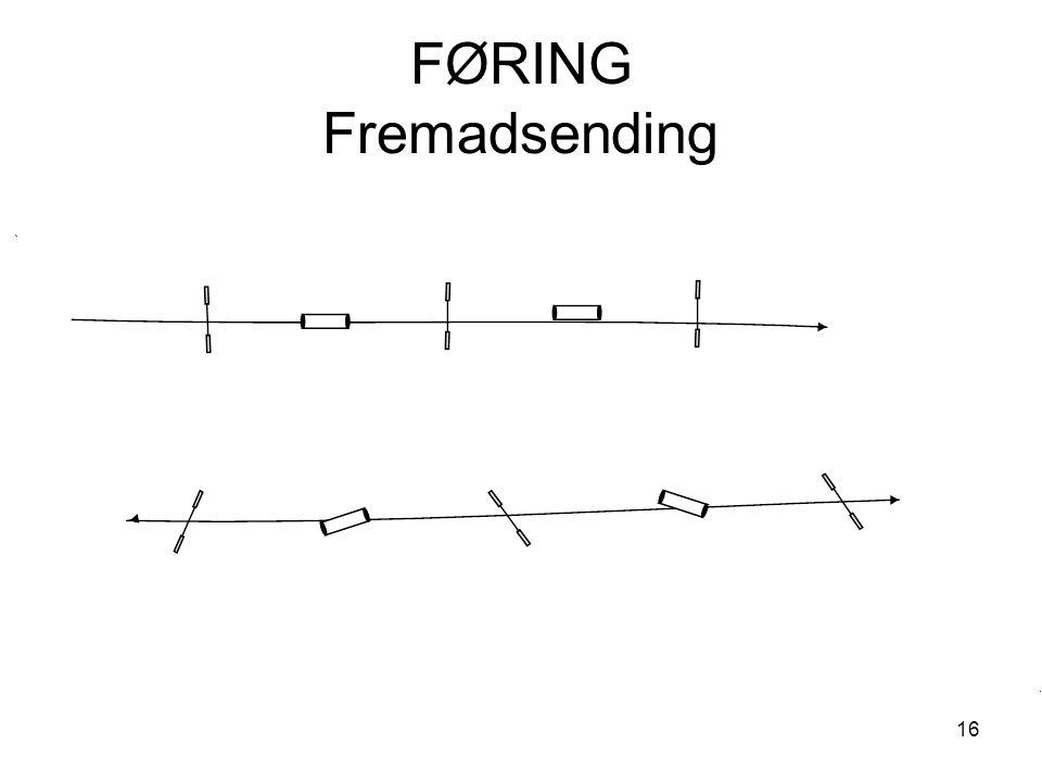 16 FØRING Fremadsending