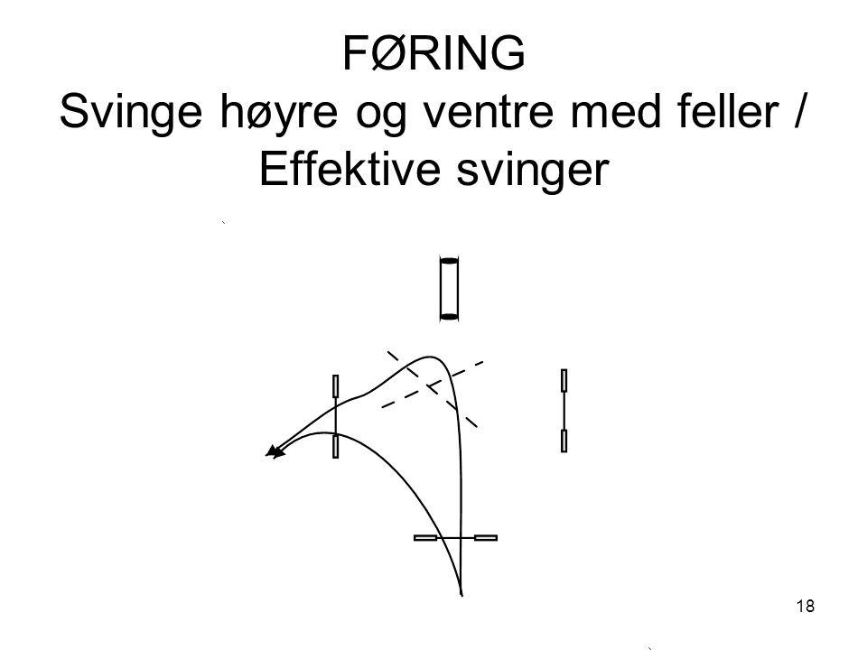 18 FØRING Svinge høyre og ventre med feller / Effektive svinger