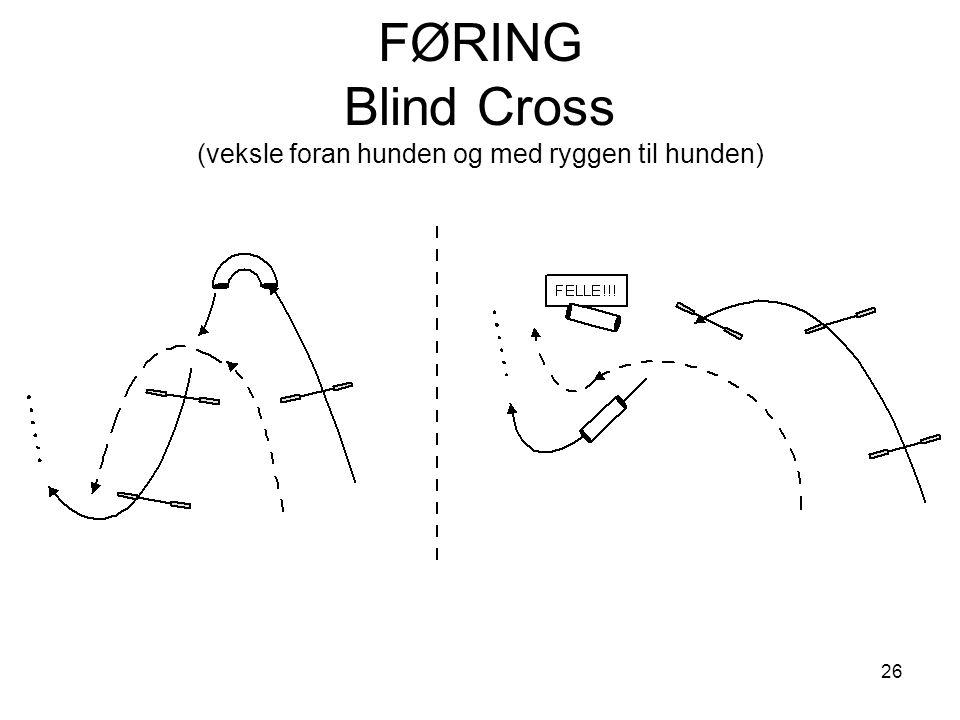 26 FØRING Blind Cross (veksle foran hunden og med ryggen til hunden)