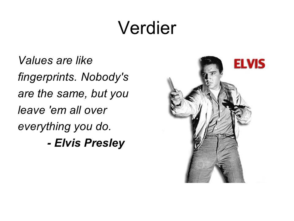 Verdier Values are like fingerprints.