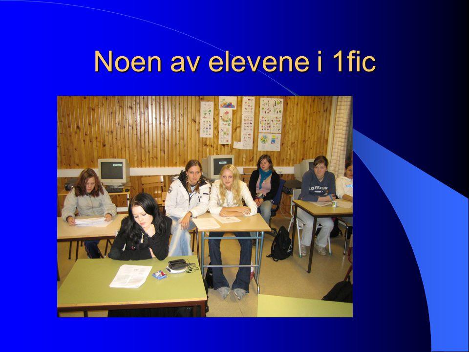 Noen av elevene i 1fic