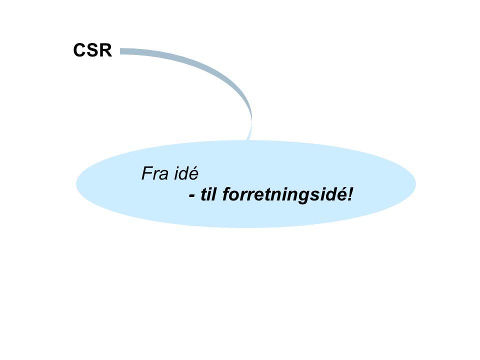 Fra idé CSR - til forretningsidé!
