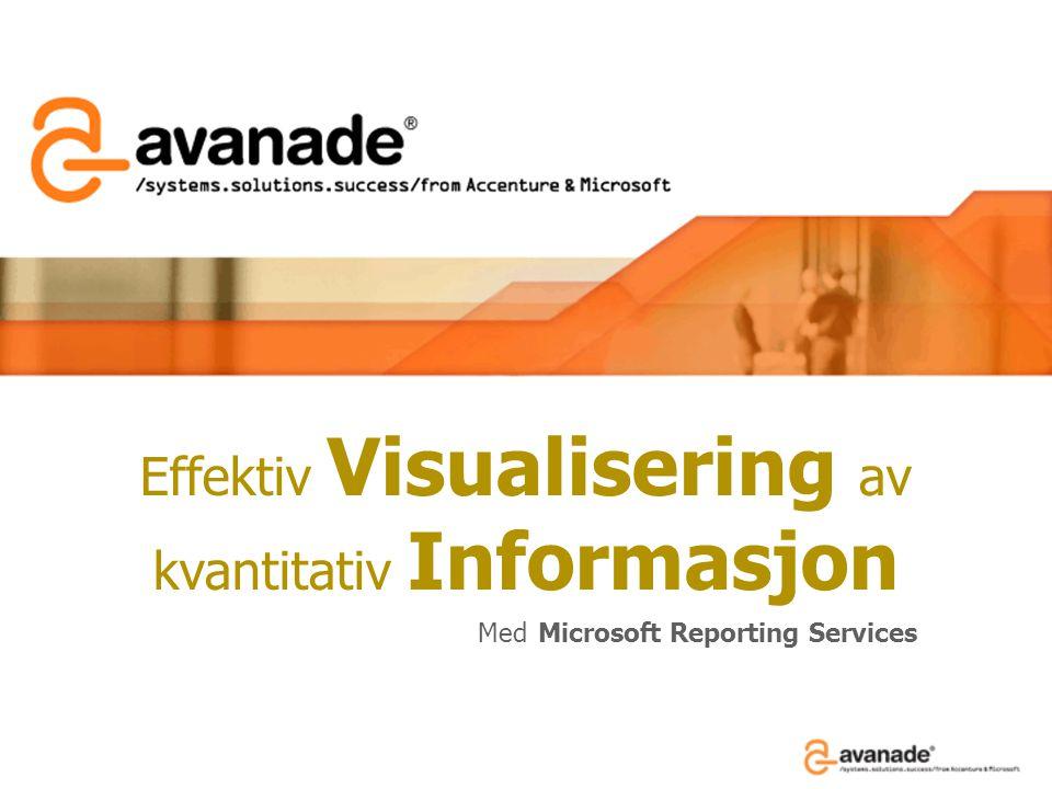 Effektiv Visualisering av kvantitativ Informasjon Med Microsoft Reporting Services