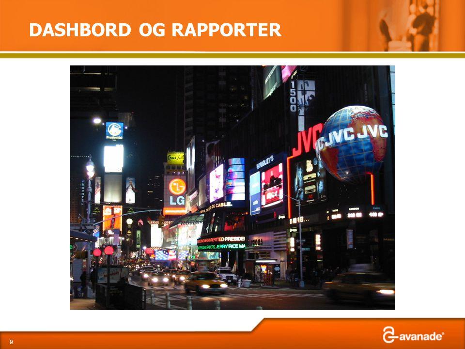 DASHBORD OG RAPPORTER 9