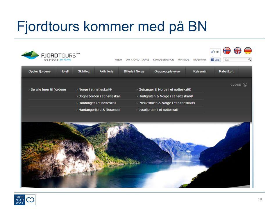 Fjordtours kommer med på BN 15