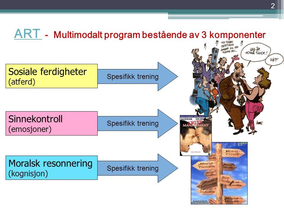 ART- Et program for trening av sosial kompetanse Førstelektor Knut Gundersen Diakonhjemmet Høgskole RogalandRogaland