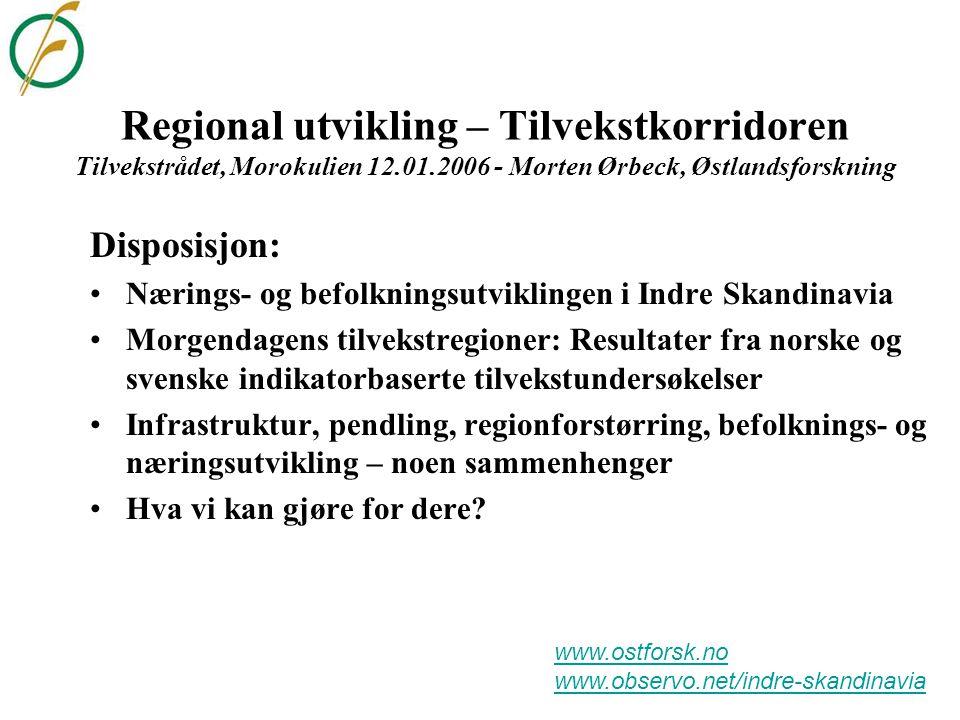 Måling av regional konkurransekraft i Norge og Sverige ØF-Regionenes tilstand: 50 indikatorer for 89 øk.
