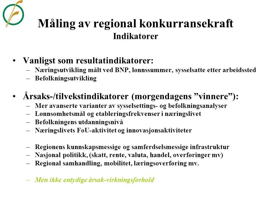 Infrastruktur og regional utvikling •Eksisterende næringsliv prioriterer oftest godstransport og veginvesteringer •Flere svenske og norske analyser tillegger persontransport større vekt •Infrastrukturen bidrar til regionforstørring og regionsammenkopling •Stimulerer økonomisk aktivitet i en region og skaper attraksjon •Gode kommunikasjoner – en nødvendig, men ikke tilstrekkelig, betingelse •Infrastruktur – kan skape (og splitte) regioner •Bærekraftig regional utvikling gjennom økt mobilitet – hva med miljøet?