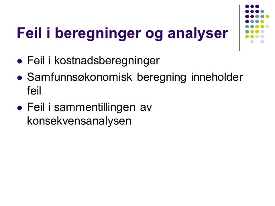 Kostnadskalkulasjon  Brua over Svartfossen, krysning av Glomma på Nord, er ikke medtatt.