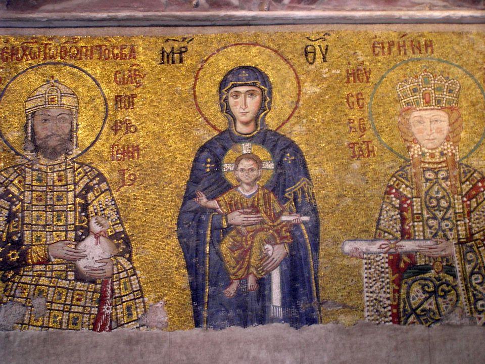 Bysants  Konstantinopel ble et kulturelt sentrum med en velfungerende administrasjon og forsvar  Fikk sin egen ortodokse kirke, ledet av en patriark