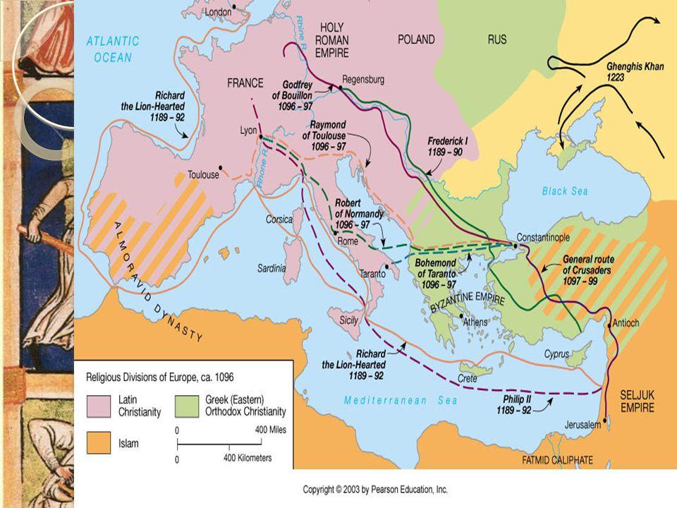 Korstogene  Paven organisere og samle kristne fra hele Vest-Europa til krige mot muslimske styrker  Paven lovet frelse og evig liv  I tillegg fikk