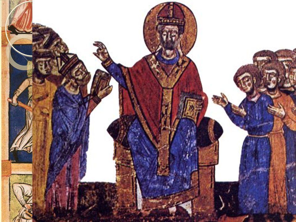 Investiturstriden  Henrik 4 var tyskromersk keiser og ble Gregor 7s største motstander  Gregor lyste Henrik 4 i bann  Henrik stod tre dager barbent i vinterkulden i Italia for å angre sin synd  Men striden fortsatte, og keiseren plyndret Roma i 1085  Paven måtte flykte fra Roma