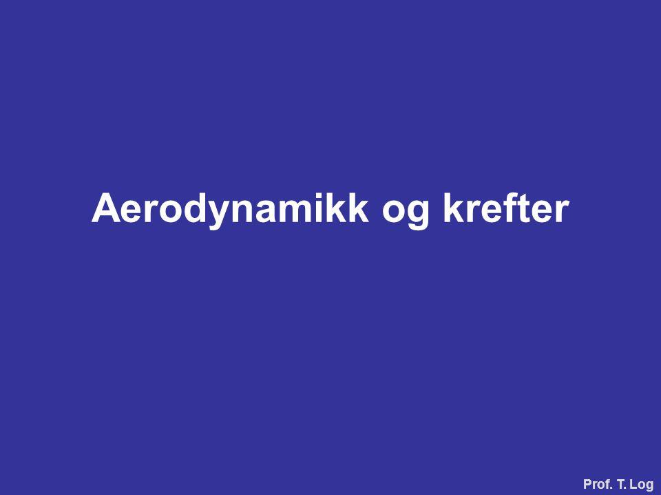 Aerodynamikk og krefter Prof. T. Log