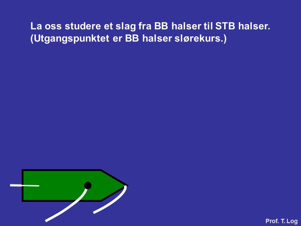 La oss studere et slag fra BB halser til STB halser. (Utgangspunktet er BB halser slørekurs.) Prof. T. Log