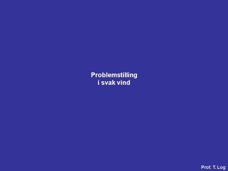 Problemstilling i svak vind Prof. T. Log