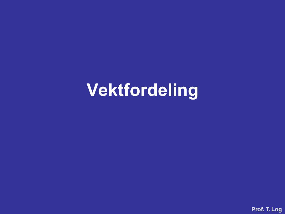 Vektfordeling Prof. T. Log