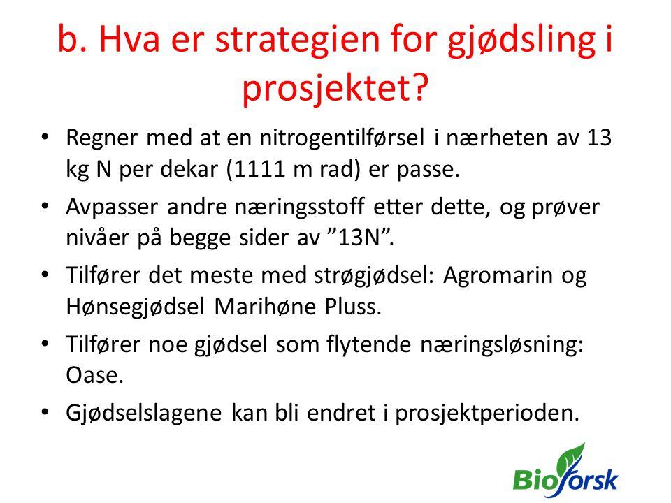 b. Eksempler fra felt Alvestad (Mg-mangel) + K?