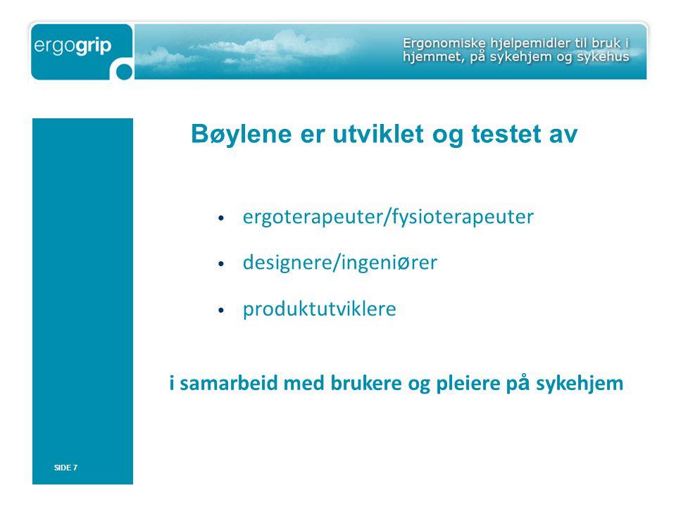 SIDE 8 Utprøving og testing på sykehjem i Bergen og Trondheim (2006-2009)