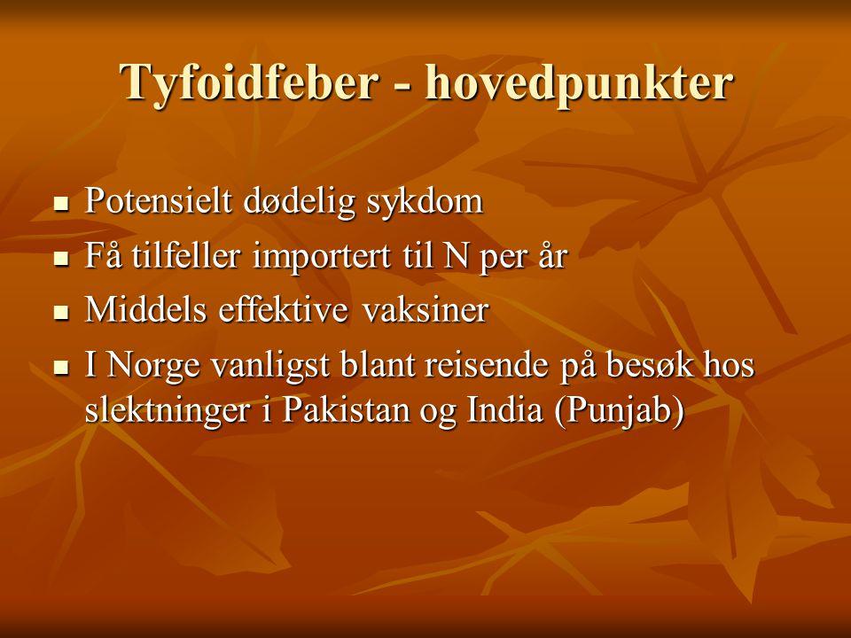 Tyfoidfeber i media  21.09.: ….informasjonen fra saudiaraberne indikerer at bin Laden døde i Pakistan 23.