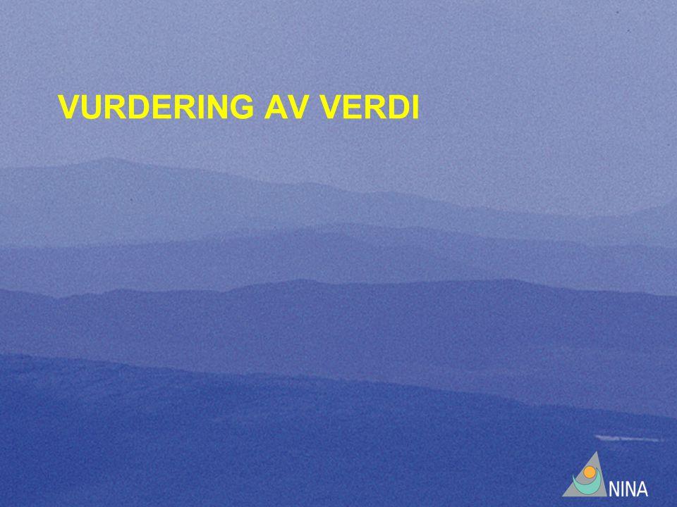 VURDERING AV VERDI