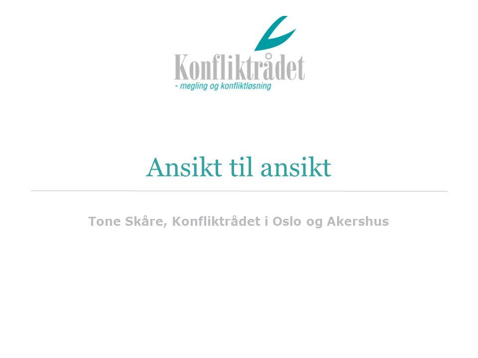Ansikt til ansikt Tone Skåre, Konfliktrådet i Oslo og Akershus