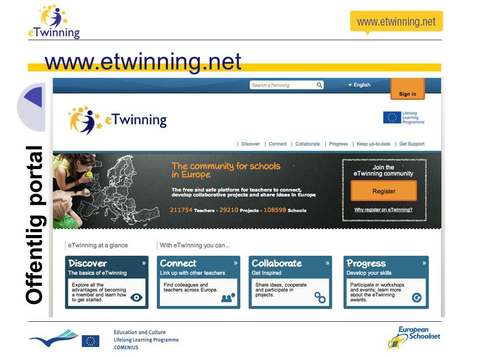 www.etwinning.net Offentlig portal