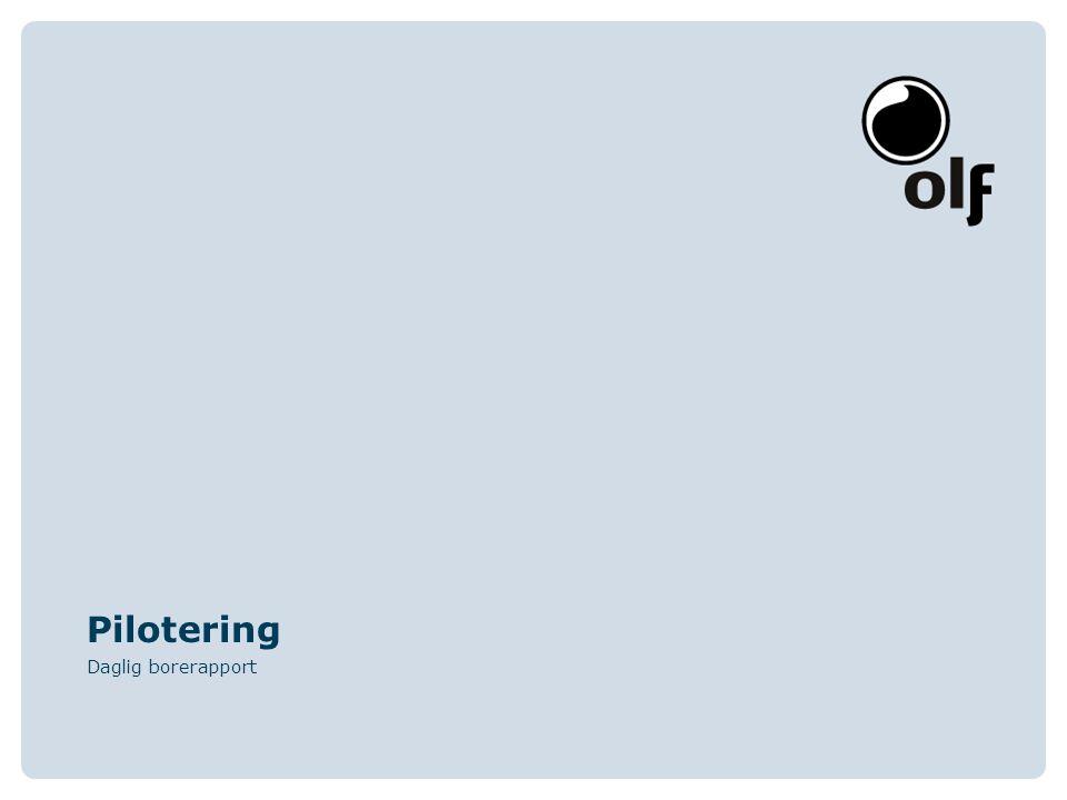 Pilotering Daglig borerapport