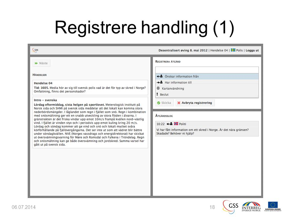 Registrere handling (1) 06.07.201418