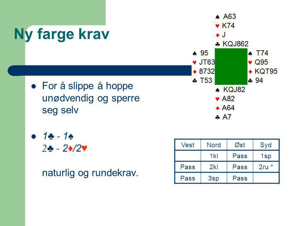 Stenberg 1  2NT etter 1 ♥ / ♠.Viser 13hp+ og firekort støtte.