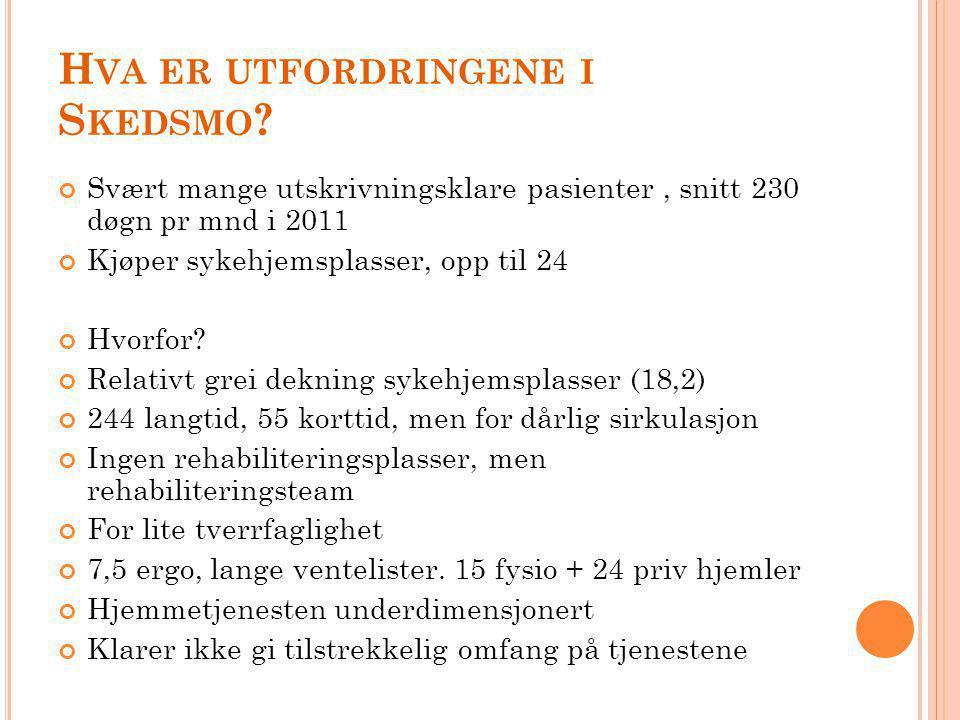 J EG UTFORDRET TJENESTENE Hva skal til for å redusere trykket mot sykehjemsplasser.