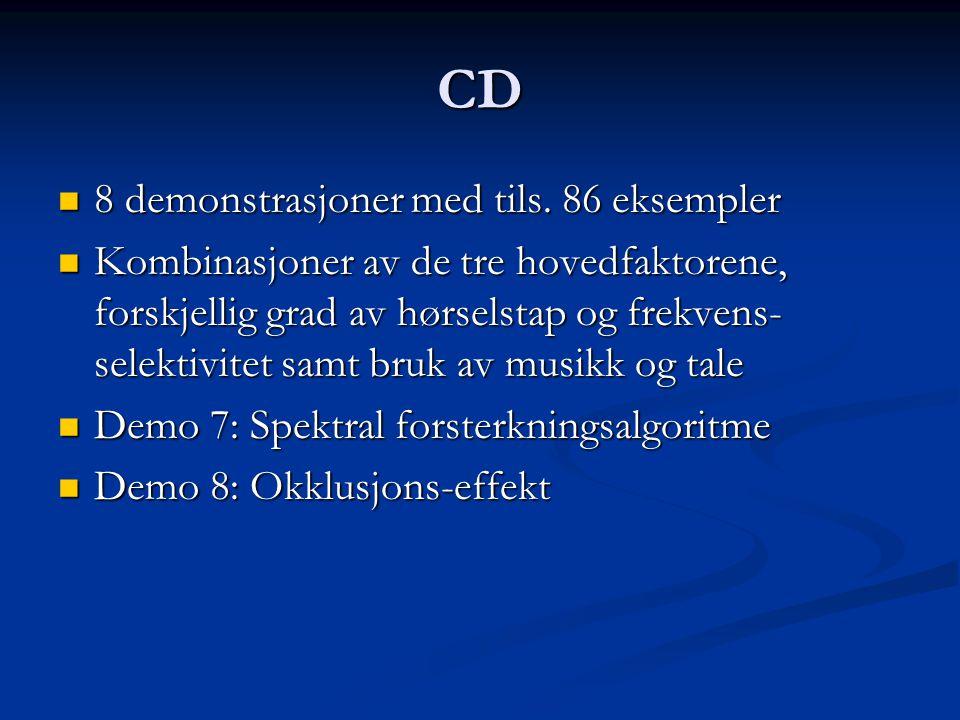 CD 8 demonstrasjoner med tils. 86 eksempler 8 demonstrasjoner med tils.