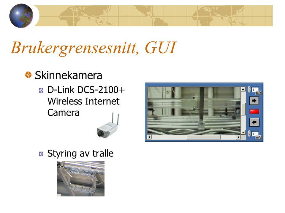 Brukergrensesnitt, GUI Skinnekamera D-Link DCS-2100+ Wireless Internet Camera Styring av tralle