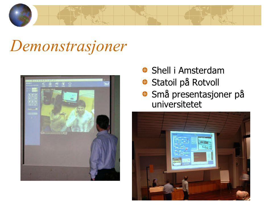 Demonstrasjoner Shell i Amsterdam Statoil på Rotvoll Små presentasjoner på universitetet