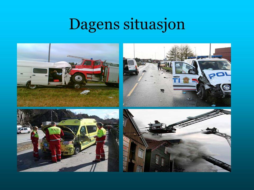 Løsningen på problemet Utrykningskjøretøy utstyrt med sender Bilister utstyrt med mottaker Varsling i.f.a.