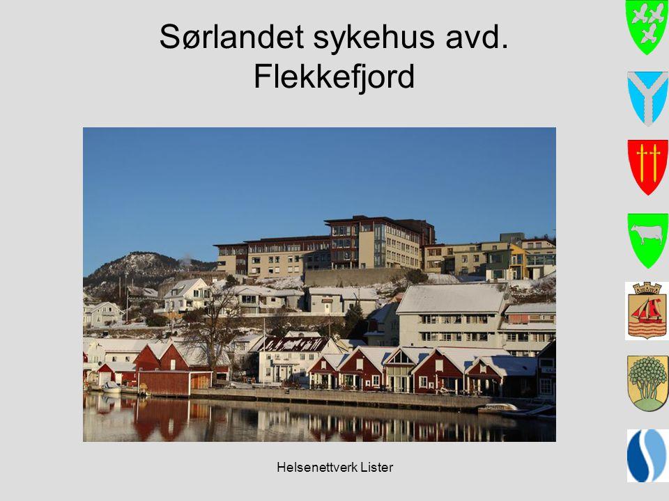 Helsenettverk Lister Sørlandet sykehus avd. Flekkefjord