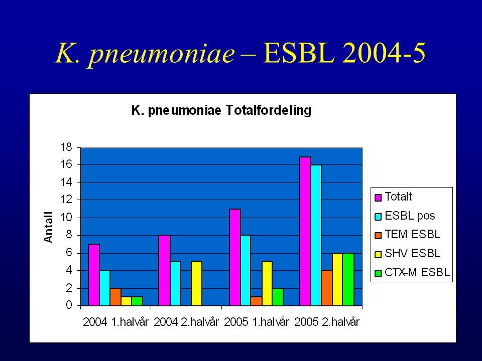 K. pneumoniae – ESBL 2004-5