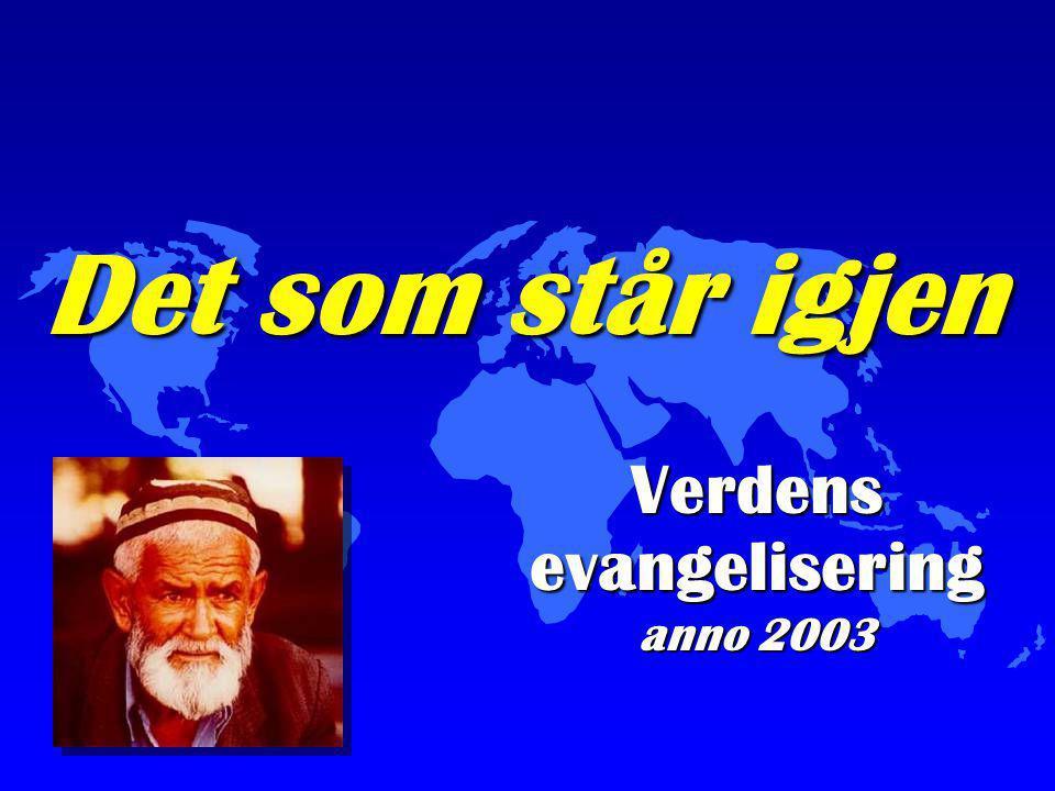 Det som står igjen Verdens evangelisering anno 2003
